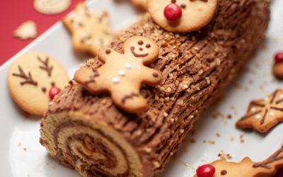 Bûche de Noël Chocolat Noisettes Maison